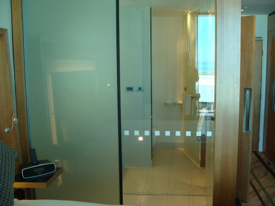 Novotel Auckland Airport: Privacy screen open