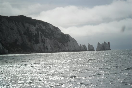 The Needles - Vista desde la playa.