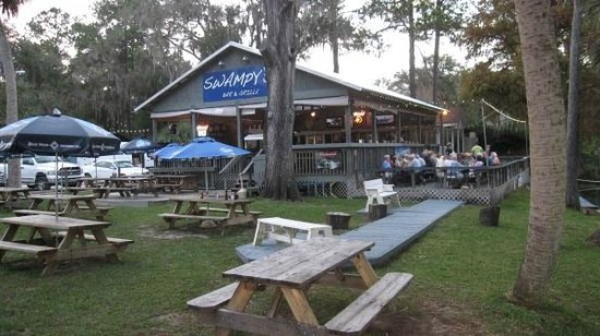 Swampy's Bar & Grille: View from near the river's edge