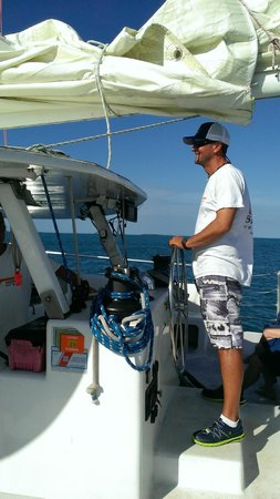 Sebago Key West: Captain Jim at the helm