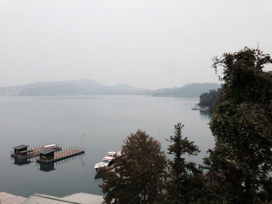 Lealea Garden Hotels-Sun Moon Lake-Moon: View from my windows in early morning. Only some room have lake view.