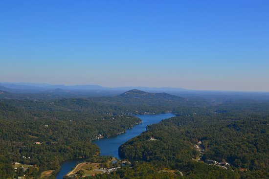 Chimney Rock State Park: View from Chimney Rock .. !!