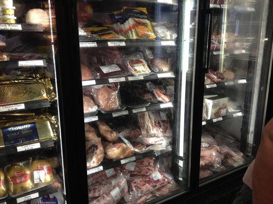 Jimmy P's Charred: pre packaged meat freezer