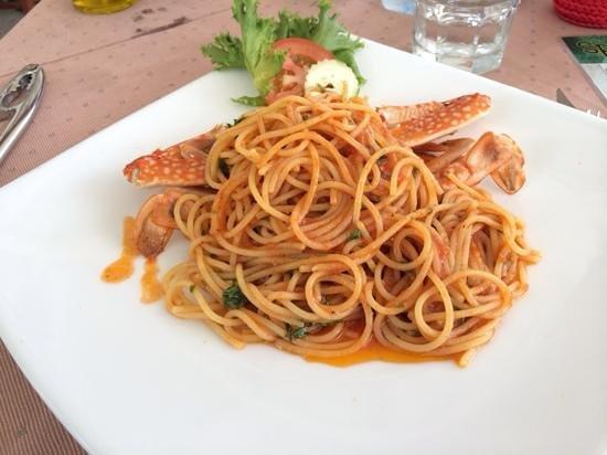 Il Tagliere da Massimo: Spaghetto con il granchio