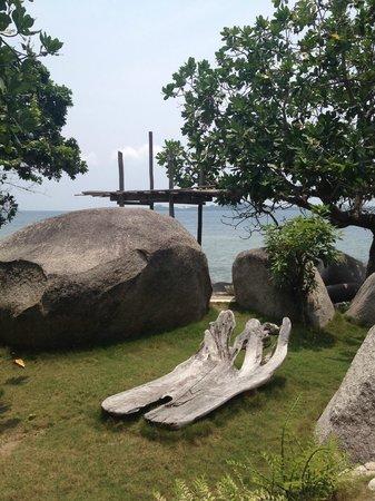 Pulau Pangkil Resort: By the pool area