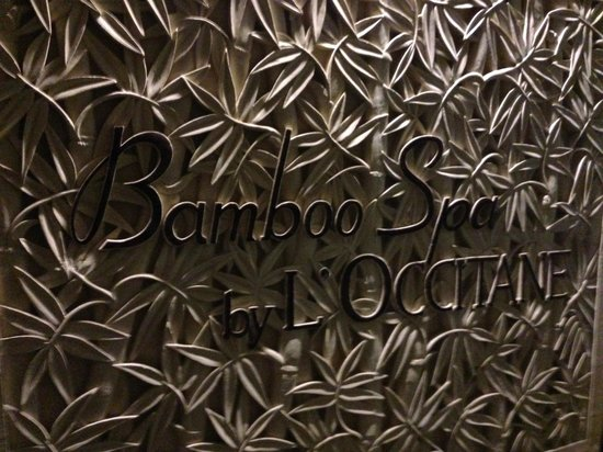 Bamboo Spa by L'Occitane: the entrance