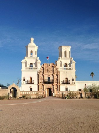 Mission San Xavier del Bac : Outside of the mission Nov. 2013