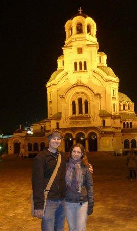 Cathédrale Alexandre-Nevski de Sofia : at night
