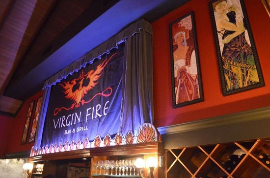 Virgin Fire Bar & Grill: Movie theatre when not in use