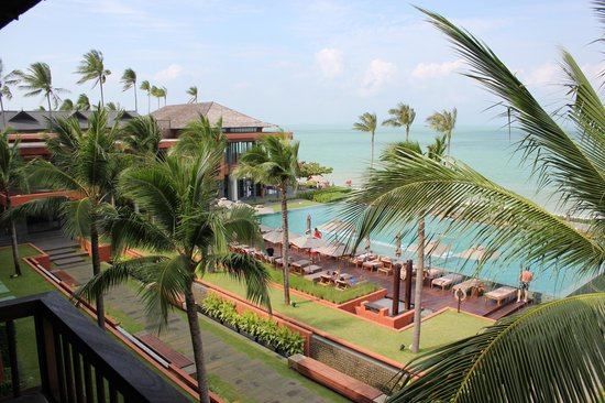 Hansar Samui Resort: Balcony view, top floor.