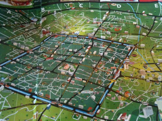 Loft Residence Chiang Mai : A picture of a map of Chiangmai.