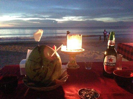 Bayang Cafe : nice sunset view