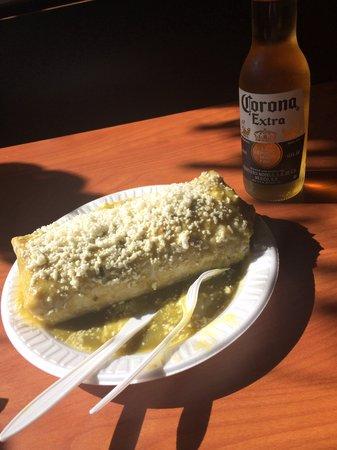 Floriano's Mexican Food: Spicy Wet Burrito & Corona