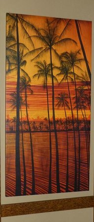 Keei Cafe : Wood burned oil painting on Mango