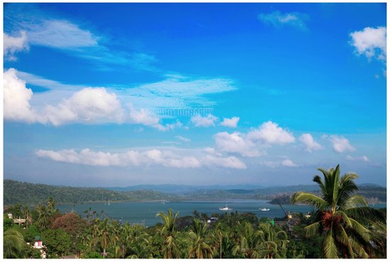 Noble Homestay, Andamans: View of the harbor from the terrace