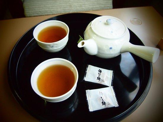Yatsugatake Royal Hotel: It won't be complete without a hot pot of green tea.
