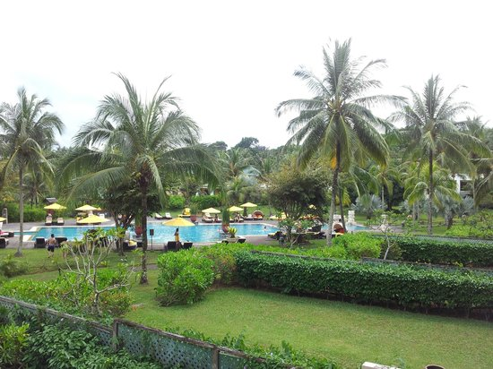 Angsana Bintan: view from balcony - pool