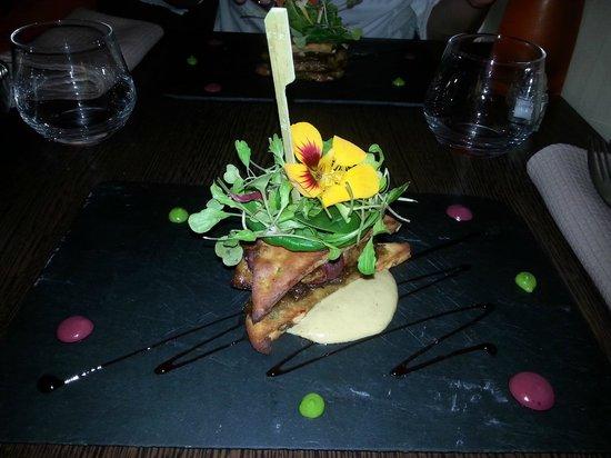 Le Poivre D'Ane: Club Sandwich revisité : pain d'épice magret foie gras chutney