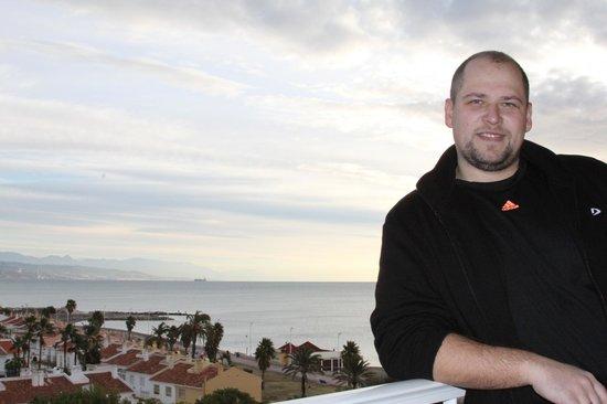 Tryp Malaga Guadalmar Hotel: Ноябрьское утро на балконе отеля.