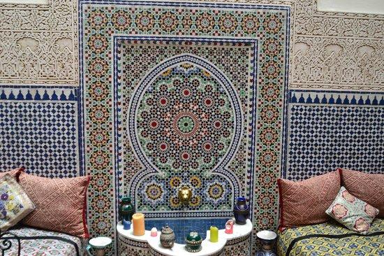 Riad al akhawaine: центральный зал