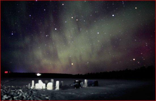 Hotel Jeris: aurora desde el lago primera noche