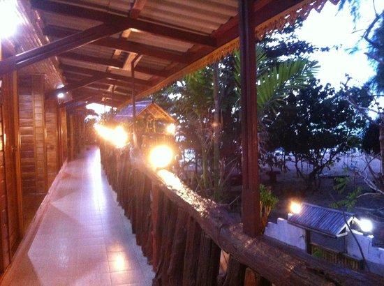 Ruan Mai Naiyang Beach: Balcony of AC rooms