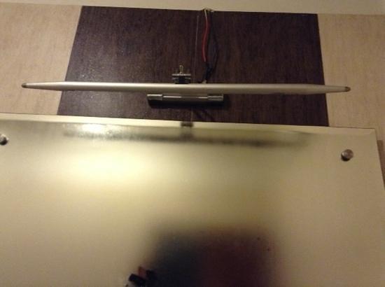 Hotel Love Kush: non functional bathroom light