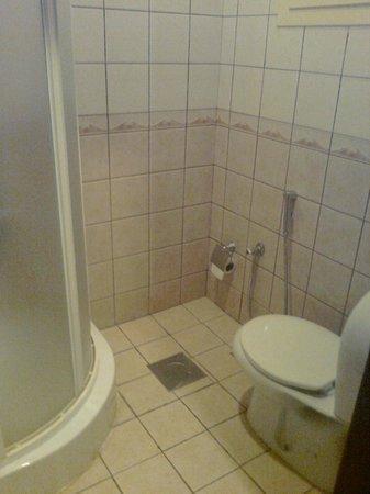 Royal Hotel & Suites : Cubículo con ducha de campaña