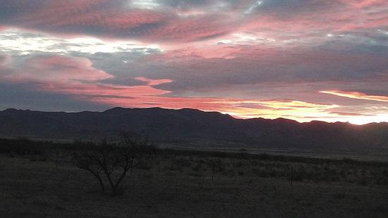 D.D. Gamble Guest Lodge: Sunrise over the Peloncillo Mountains