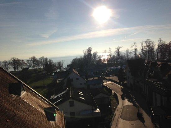 Hotel Traube am See: Blick in Richtung See aus Zimmer 401.