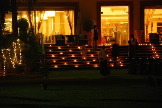 Le Meridien Jaipur Resort & Spa: Diwali decoration