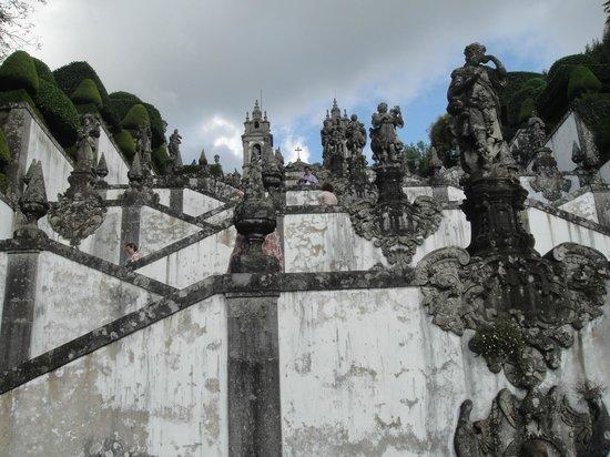 Santuario do Bom Jesus do Monte : Escadaria do Santuário Bom Jesus do Monte