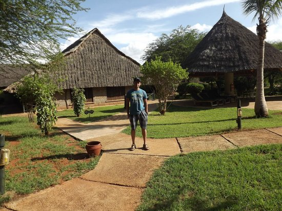 Voi Wildlife Lodge: Lodge and grounds