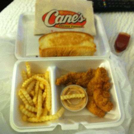 Raising Cane's Chicken Fingers: 3 piece Chickent Strip Combo