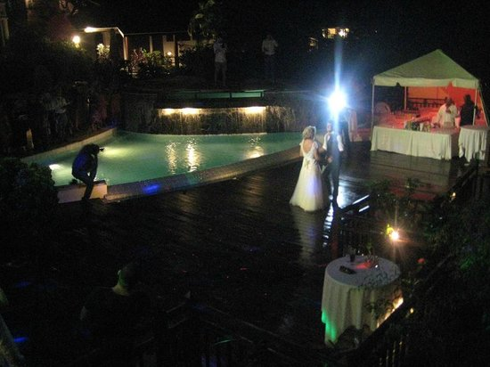 Cap Maison : The pool at night where our first dance took place