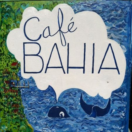 CAFE BAHIA: The annual sign with new paint!!!