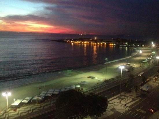 Miramar Hotel by Windsor: our first sunrise in Rio as seen from our room window
