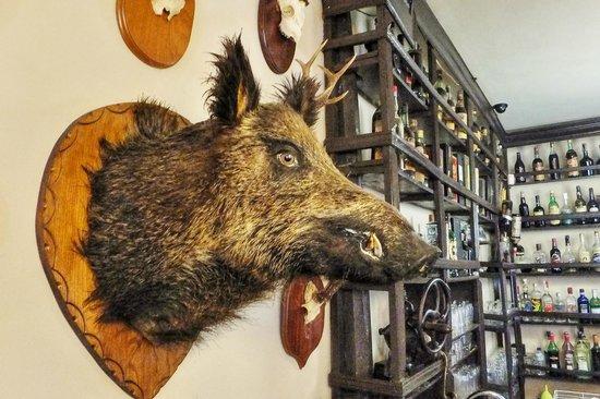 La Chabola: Ambiente de caza del bar, cálido y agradable.