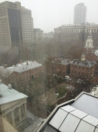 The Franklin Hotel at Independence Park : View of Independence Park and Hall from the 14th floor