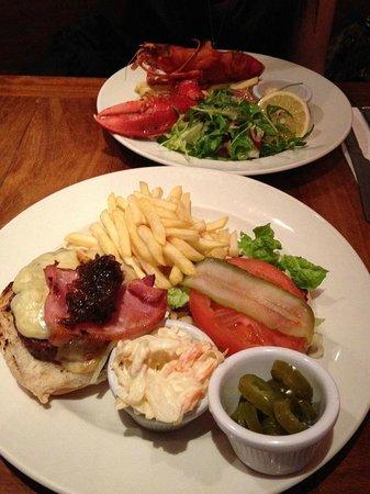 Ad Lib Burer and Half Lobster