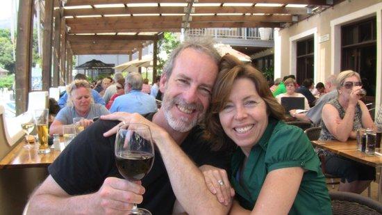 Chapmans Peak Hotel Restaurant: Enjoying the veranda