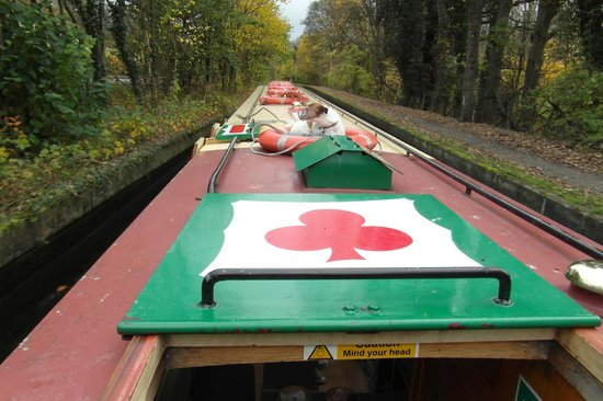 Llangollen Canal: top of barge