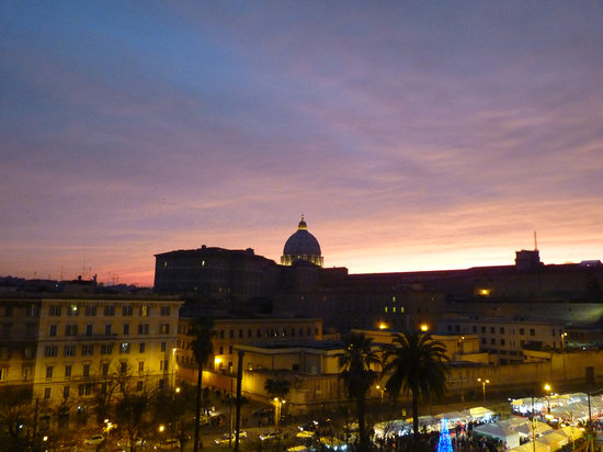Vatican Vista: Sunset seen from our window
