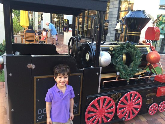 Downtown At The Gardens: adorable train ride