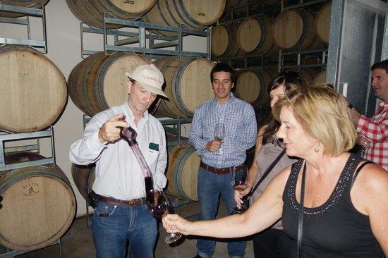 Ampora Wine Tours : Gimenez Rilli Winery - Barrel Tasting