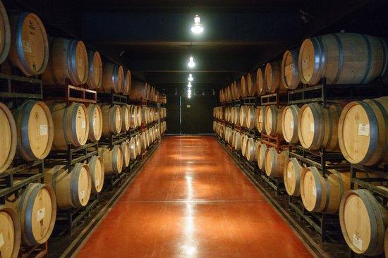 Ampora Wine Tours : Pulenta Estate Winery - Barrel Room