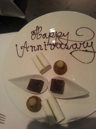 Launceston Place: Special petit fours for our wedding anniversary