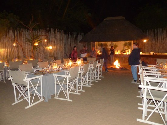 Thornybush Game Lodge: repas du soir