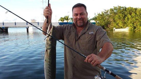 Simpson Bay, St. Martin/St. Maarten: Bernie rockin the dock!