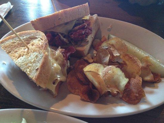 Brick House: Ruben/ cornbeef sandwich